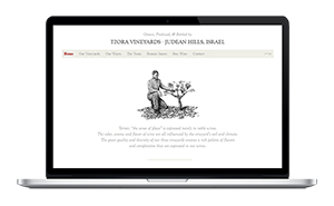 Website for Tzora Vineyards