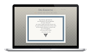 Website for Des Esseintes