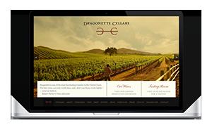 Website for Dragonette Cellars