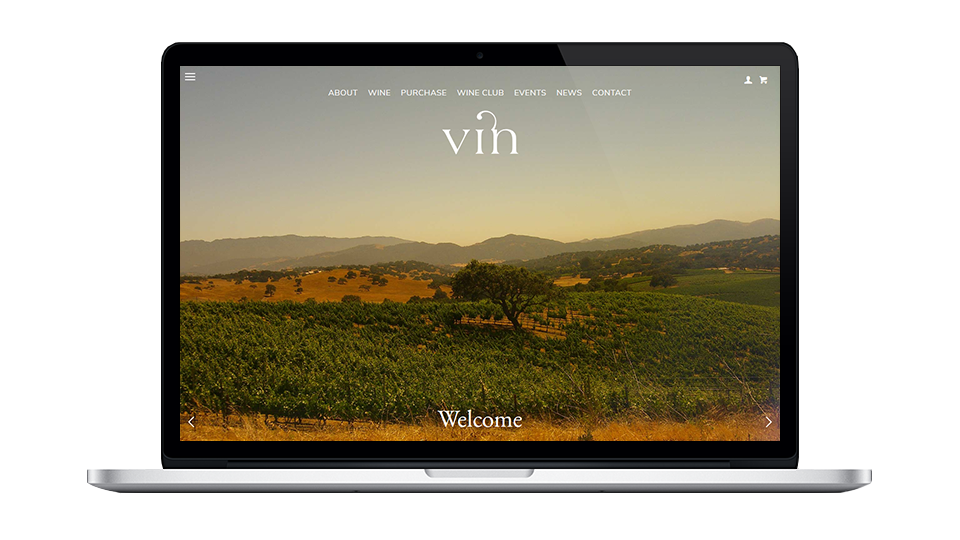 Vin Website Builder Screenshot