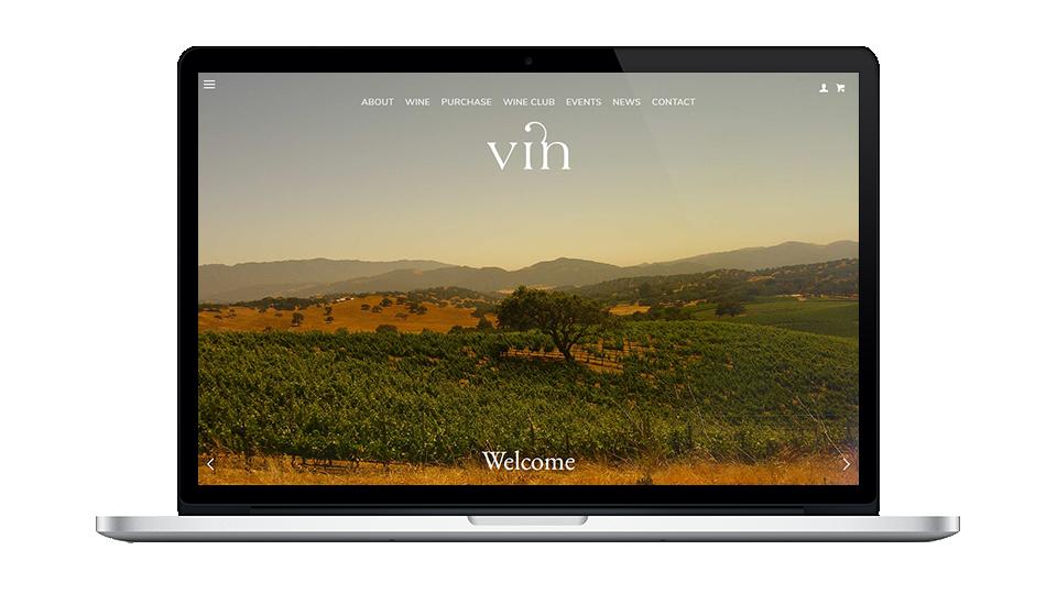 Vin Website Builder Screenshot