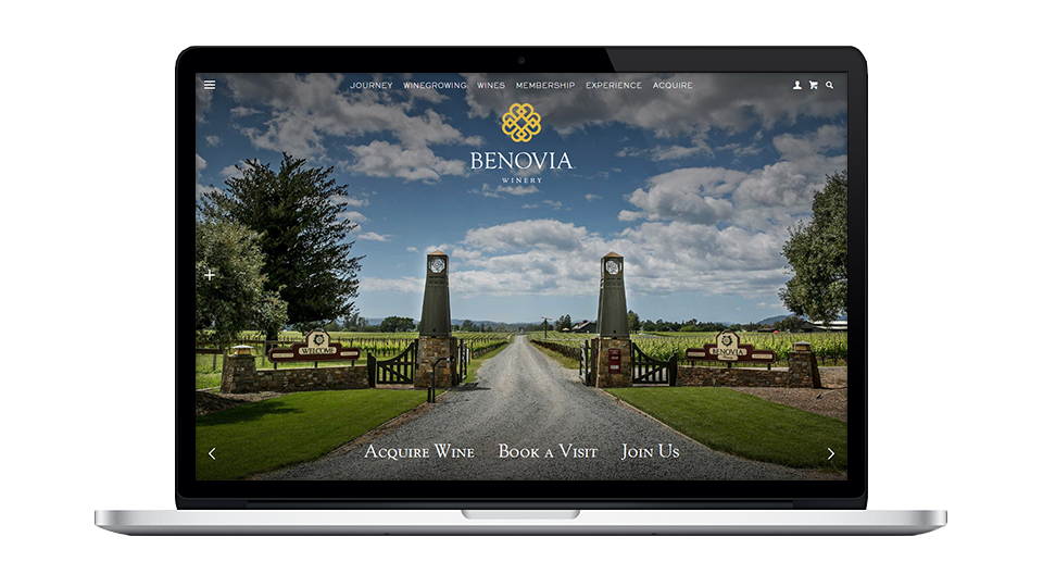 Website for Benovia