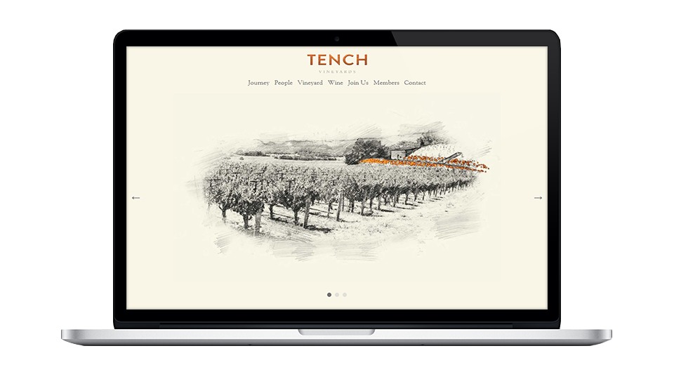 Website for Tench Vineyards