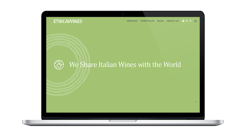 Website for Ethica Wines