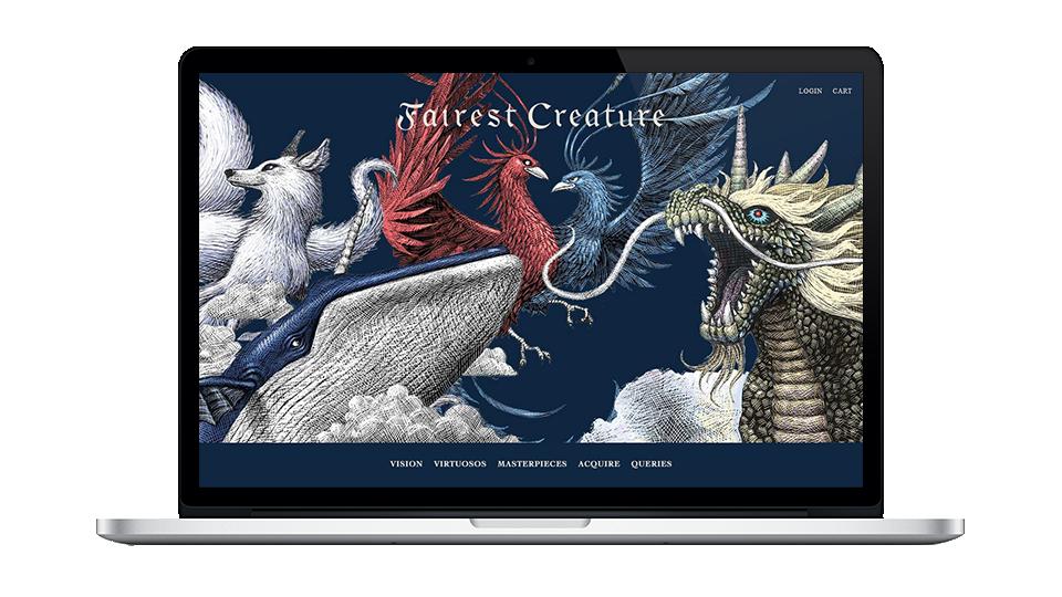 Website for Fairest Creature